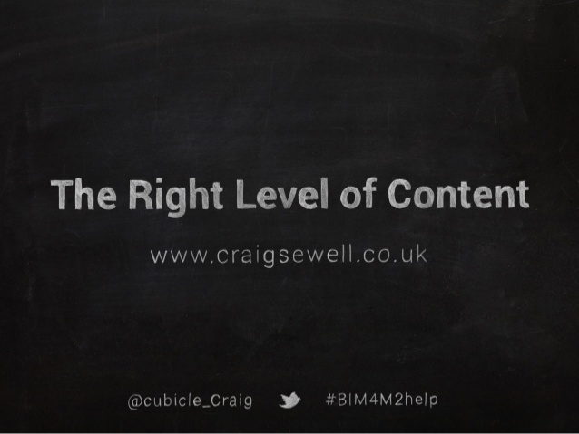 Right level of BIM content